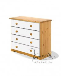 Verona White Pine Chest 4 Drawer