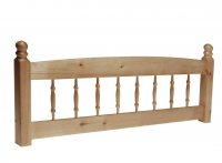 Palermo Antique Pine Headboard 3ft Spindle