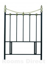 Ancona 90cm (Single) Matt Black / Antique Brass Headboard