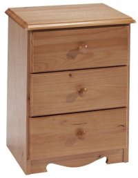 Verona Antique Pine Bedside 3 Drawer