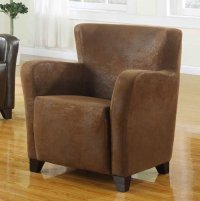 Winston Tub Chair - Brown Leather Rub Through