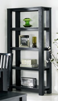 Cuba Black Open Shelf Unit