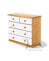 Verona White Pine Chest 3+2 Drawer