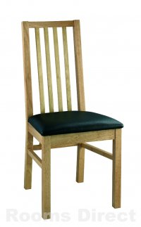 Atlantis Oak 4 Slatted Chair (Pair)