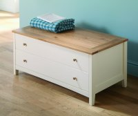 Alaska Painted Oak Chest Of Drawers 2 Drawer
