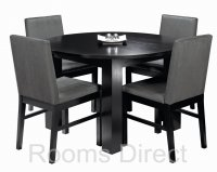 Cuba Black Circular Dining Table (Table Only)