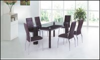 Boston Glass Brown Dining Table (Table Only)