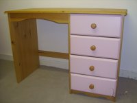 Verona Pink Pine Single Pedestal Dressing Table