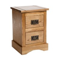 Vermont Bedside Cabinet 2 Drawer Petite