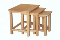 Avignon Solid Oak Nest Of Tables