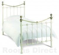 Alice 90cm (Single) White Bedstead