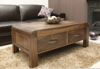 Shiro Walnut Coffee Table Four Drawer