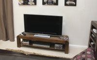 Shiro Walnut Television Cabinet Low