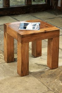 Santana Reclaimed Oak Lamp Table
