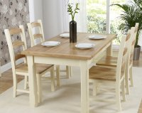 Windle Ash Dining Table 150cm plus 6 Chairs