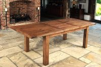Santana Reclaimed Oak Extending Dining Table Large