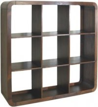 Dark Wood Cube Unit 9 Shelf