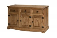 Corona Mexican Pine 3 Door 3 Drawer Sideboard