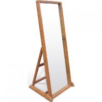 Reclaimed Teak - Mirror With Stand