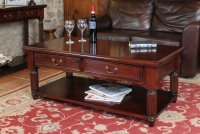 Rochester Mahogany Coffee Table With Drawers