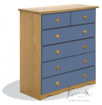 Verona Blue Pine Chest 4+2 Drawer