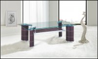 Boston Glass Brown Coffee Table