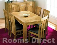 Lyon Oak 150cm Dining Table (Table Only)