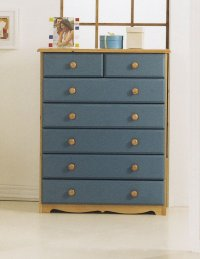 Verona Blue Pine Chest 5+2 Drawer