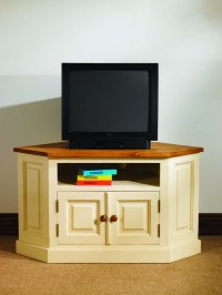 Mottisfont Painted or Waxed Pine Corner TV Unit