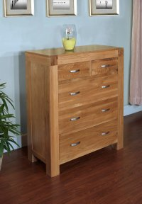 Santana Blonde Oak Chest of Drawers 2 over 3