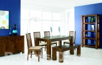 Cuba Acacia 150cm Dining Table (plus 4 slat chairs)