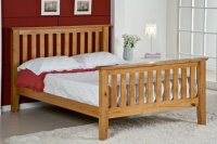 San Marino 4ft 6in Double Antique Pine Bed