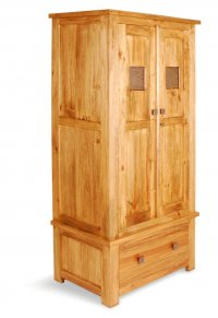Broxton Pine Wardrobe Single Drawer