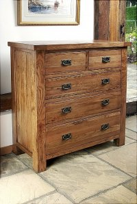 Brooklyn Reclaimed Oak Chest Of Drawers 2 Over 3