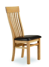 Cambridge Oak Dining Chair With Leather Pad (pair)
